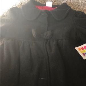 Girls NWT black pea coat 4t